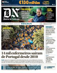 capa Diário de Notícias de 12 setembro 2017