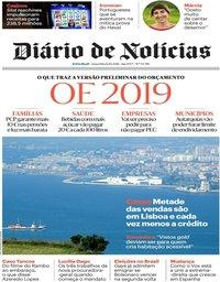 capa Diário de Notícias de 12 outubro 2018
