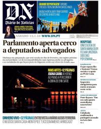capa Diário de Notícias de 13 janeiro 2018
