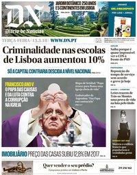 capa Diário de Notícias de 13 março 2018