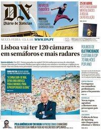capa Diário de Notícias de 13 abril 2018