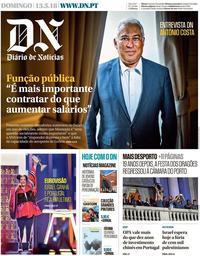 capa Diário de Notícias de 13 maio 2018