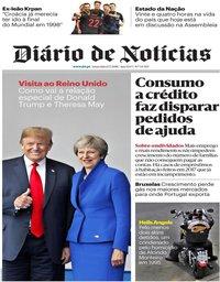 capa Diário de Notícias de 13 julho 2018