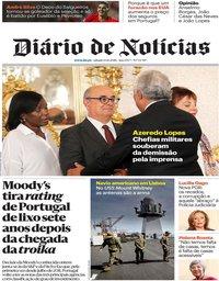 capa Diário de Notícias de 13 outubro 2018