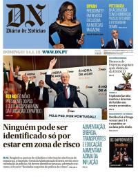capa Diário de Notícias de 14 janeiro 2018