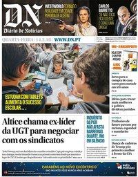 capa Diário de Notícias de 14 março 2018