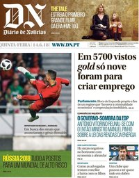 capa Diário de Notícias de 14 junho 2018