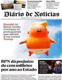 capa Diário de Notícias de 14 julho 2018