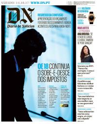 capa Diário de Notícias de 14 outubro 2017