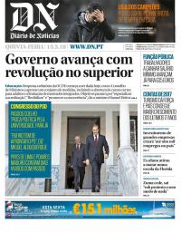 capa Diário de Notícias de 15 fevereiro 2018