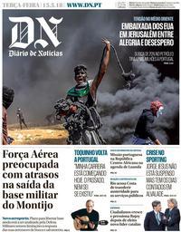 capa Diário de Notícias de 15 maio 2018
