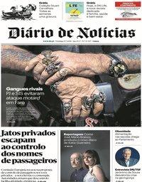 capa Diário de Notícias de 15 julho 2018