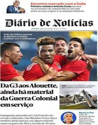 capa Diário de Notícias de 15 agosto 2018