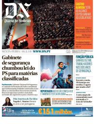 capa Diário de Notícias de 16 fevereiro 2018