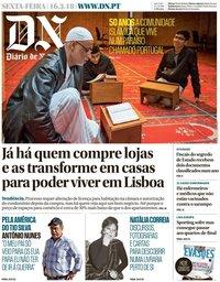 capa Diário de Notícias de 16 março 2018