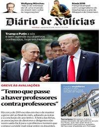 capa Diário de Notícias de 16 julho 2018