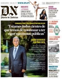 capa Diário de Notícias de 16 setembro 2017