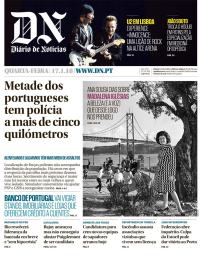 capa Diário de Notícias de 17 janeiro 2018