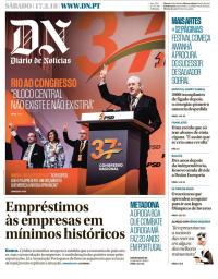 capa Diário de Notícias de 17 fevereiro 2018