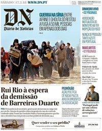 capa Diário de Notícias de 17 março 2018