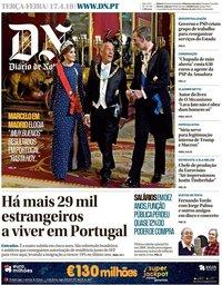 capa Diário de Notícias de 17 abril 2018