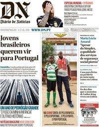 capa Diário de Notícias de 17 junho 2018