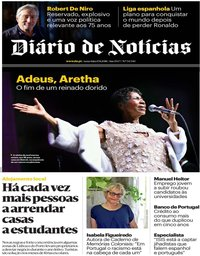 capa Diário de Notícias de 17 agosto 2018