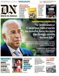 capa Diário de Notícias de 17 setembro 2017