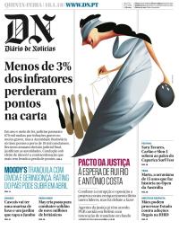 capa Diário de Notícias de 18 janeiro 2018