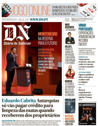 capa Diário de Notícias de 18 fevereiro 2018