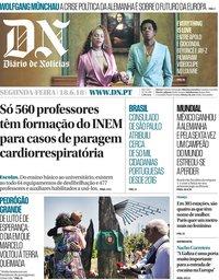 capa Diário de Notícias de 18 junho 2018
