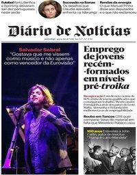 capa Diário de Notícias de 18 julho 2018