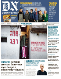 capa Diário de Notícias de 19 janeiro 2018