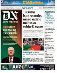 capa Diário de Notícias de 19 fevereiro 2018
