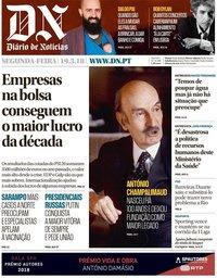 capa Diário de Notícias de 19 março 2018
