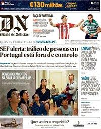 capa Diário de Notícias de 19 abril 2018