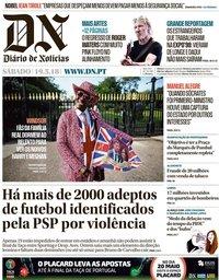 capa Diário de Notícias de 19 maio 2018