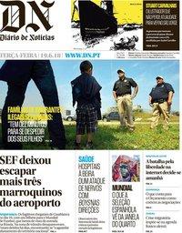 capa Diário de Notícias de 19 junho 2018