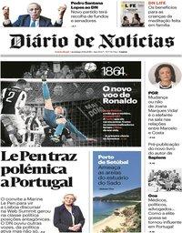 capa Diário de Notícias de 19 agosto 2018