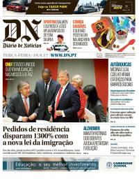 capa Diário de Notícias de 19 setembro 2017