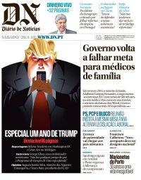 capa Diário de Notícias de 20 janeiro 2018