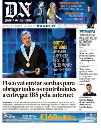 capa Diário de Notícias de 20 fevereiro 2018
