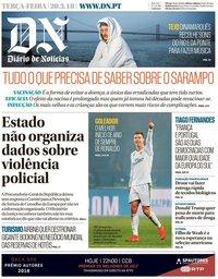 capa Diário de Notícias de 20 março 2018