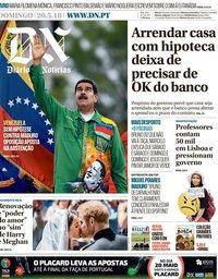 capa Diário de Notícias de 20 maio 2018