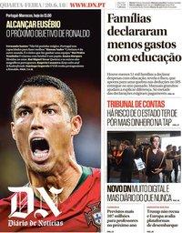 capa Diário de Notícias de 20 junho 2018