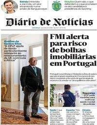 capa Diário de Notícias de 20 julho 2018