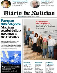 capa Diário de Notícias de 20 agosto 2018