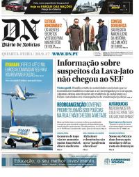 capa Diário de Notícias de 20 setembro 2017