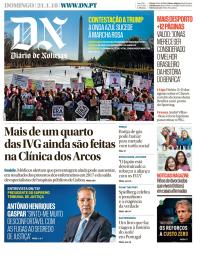 capa Diário de Notícias de 21 janeiro 2018