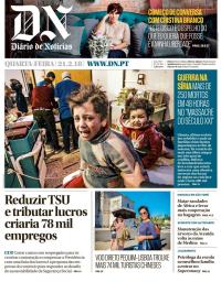 capa Diário de Notícias de 21 fevereiro 2018